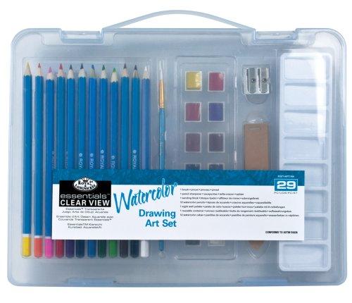 Royal & Langnickel RSET-ART3106 - Essentials Clear View, Small Kassette mit Wasserfarben Mal-Set