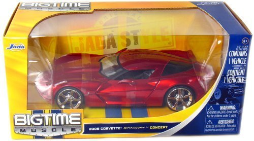 2009 Corvette Stingray Concept Bigtime Muscle 1:24 Scale (Red) by Jada