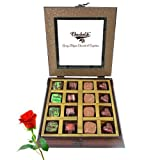 Valentine Chocholik's Belgium Chocolates - Dark Collection Of Beautiful Love Chocolates With Red Rose