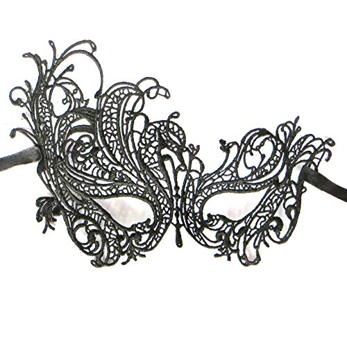 Janecrafts Women Elegant Masquerade Prom Mask Cosplay Costume Holloween Balls Fancy Lace Cutout Mask