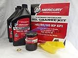 Mercury OEM Oil Change & Filter Kit 40-50-60hp Four Stroke Outboard 8M0081916