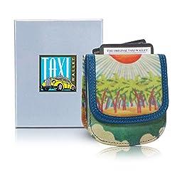 Taxi Wallet Women\'s ISLAND SUN VEGAN Small Compact Card Coin Wallet
