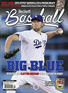Current Beckett Baseball Monthly Magazine Price Guide Values December 2014 Big Blue Clayton Kershaw LA Dodgers Cover 074470957904