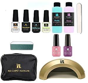 Red Carpet Manicure Cinderella 4 Color LED Gel Nail Polish Kit Set + Travel Bag