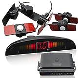 CAR ROVER SW037F シルバー バックセンサー パーキングセンサー 警告音+モニター表示 12v 8色 14ヶ月保証 16.5MM小型1センサー
