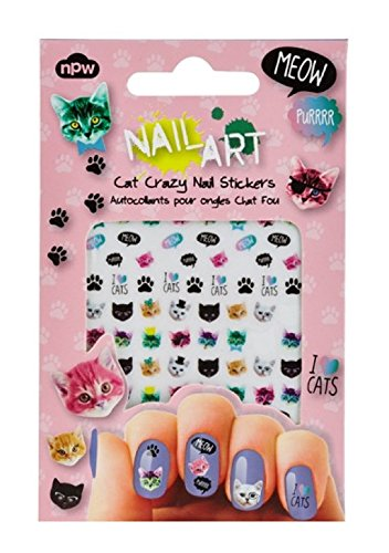NPW Cat Crazy Nail Art Stickers, Multicolor (Just Breathe Nail Polish compare prices)