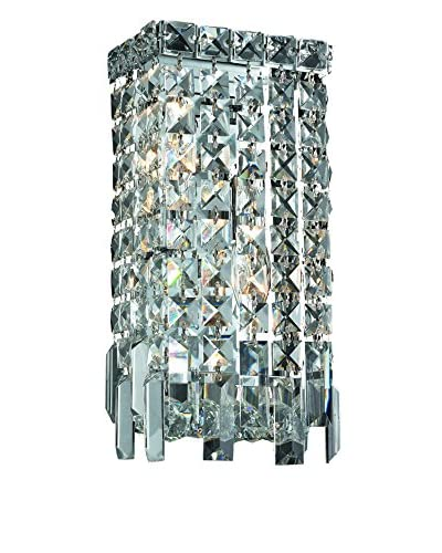 Crystal Lighting Maxim Collection 13 Wall Sconce, Chrome