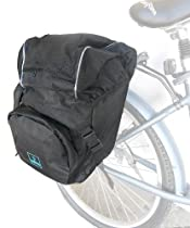 Bicycle Pannier Bag Vin , Reflective strip, 1000 cubic inch with rain cover,blk/blk