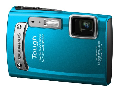Olympus TG-320 Digital Compact Camera - Blue (14MP, 3.6x Wide Optical Zoom) 2.7 inch LCD