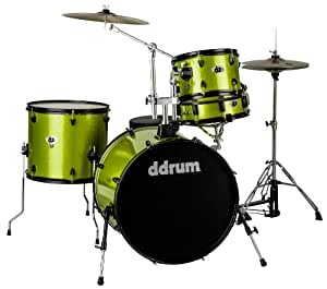 Amazon.com: ddrum D2R LIME SPKL D2 Rock Kit with Black Hardware, Lime