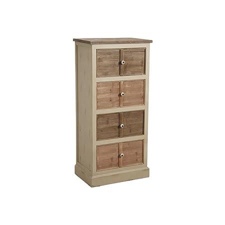Commode 4 tiroirs en pin et poignées céramique 61x40.5x131cm