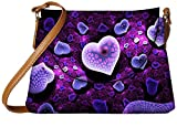 Snoogg Amazing Hearts Designer Womens Carry Around Sling Bags