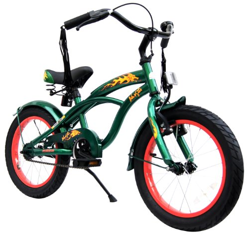 bike*star 40.6cm (16 Inch) Kids Children Bike Bicycle Cruiser - Colour Green