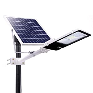 SZYOUMY Solar Street Light Outdoor, LED Flood Lights Lamp with Remote Control Timing High Brightness Dusk to Dawn Security Lighting for Yard, Garden, Gutter, Pathway, Basketball Court (70W) (Color: 70w)