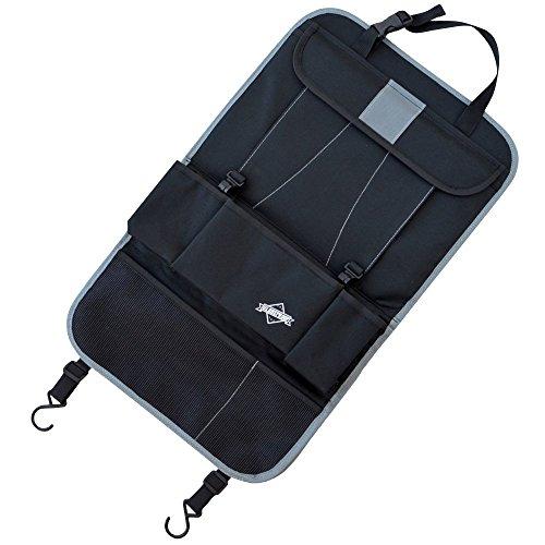 Protezione / Organizer per sedile nero - Ideale come schienale portaoggetti per i tuoi viaggi d'affari o come telo protettivo - Con tasca per iPad / Tablet - Adatta a tutti i modelli di auto