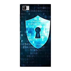 Stylish Cyber Secur Print Back Case Cover for Xiaomi Mi3