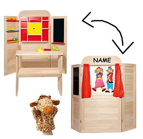 Holz SpielkUche Von Beiden Seiten Bespielbar ~ Erzi Müsli in der Dose, Spielzeug Müsli, Holz Müsli,