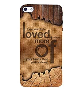 Wish To Be Love 3D Hard Polycarbonate Designer Back Case Cover for Apple iPhone SE