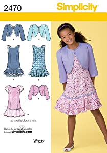 Simplicity Sewing Pattern 2470 Girl's Dresses, AA (8-10-12-14-16)