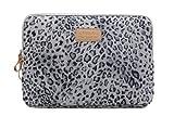 Kinmac 2014 New Chocolatier Confiseur Lady Fashion Laptop Sleeve Macbook / Macbook Pro / Macbook Air Sleeve Case Dell / Hp /Lenovo/sony/ Toshiba / Ausa / Acer /Samsun Ultrabook Bag Cover (14 In, Snow Leopard)