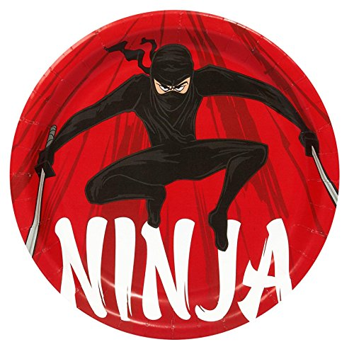 Ninja Warrior Party Dinner Plates (8) - 1