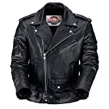 VikingCycle Angel Fire Motorcycle Leather Jacket for Men XL by NYC Leather Factory Outlet