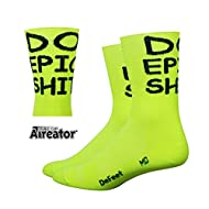 DeFeet AirEator HiTop Do Epic Sh*! Cycling/Running Socks - AIRTDENY