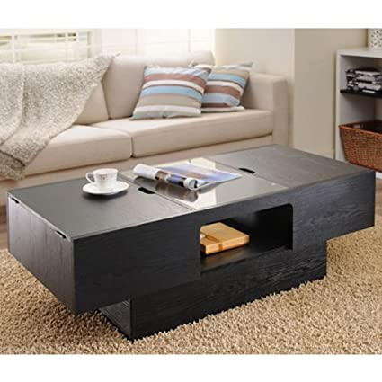 Orinoco Contemporary Style Matte Black Finish Coffee Table
