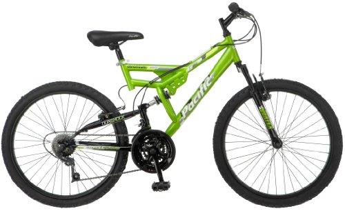 Pacific Boy's Chromium Mountain Bike, Green (24-inch Wheel)