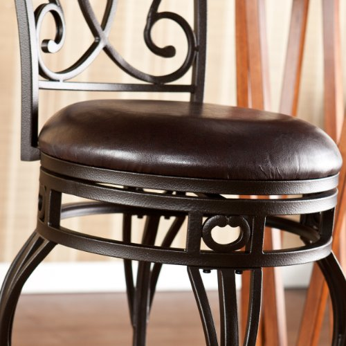 SEI Jennifer Swivel Bar Stool, Bronze