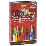 Koh-I-Noor Progresso Woodless Colored 24-Pencil Set, Assorted Colors (FA8758.24)