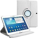 """Stuff4 MR-GT310.1-L360-W-STY-SP Housse avec rotation à 360° pour Samsung Galaxy Tab 3 10,1"""" (P5200 / P5210) Film de protection et Stylet inclus Blanc"""