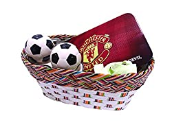 Football Lover Brother Gift Hamper for Boys / Rakhi gift for brother contains Football themed Pencil Box, Football shaped Salt Pepper Shaker Set, Glow in dark Shoe Lace Pair,