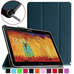 Fintie Samsung Galaxy Note 10.1 2014 Edition Case Cover - Ultra Slim Lightweight Stand Smart Shell with Auto Sleep/Wake Feature, Navy