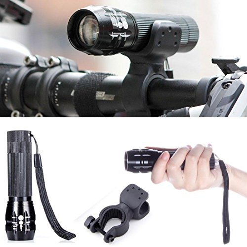 1 Pcs Sublime Popular Style 240 Lumen LED Bike Lights Multi Modes Flashlight Handlebars Cycling Lamp Color Black with Mount