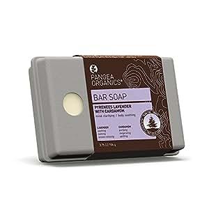Pangea Organics Bar Soap, Pyrenees Lavender With Cardamom, 3.75-Ounce Box