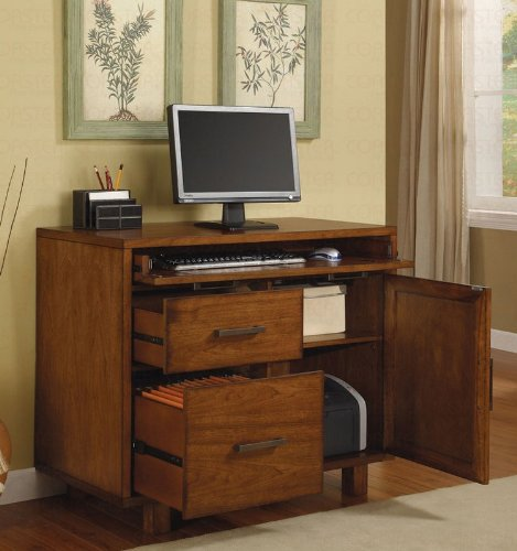 Buy Low Price Comfortable Workstation Computer Desk in Rich Medium Brown Finish (B0045R10BM)