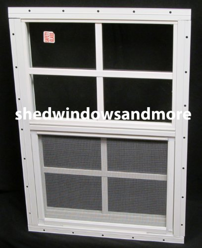 small shed window 14 x 21 white flush safety glass