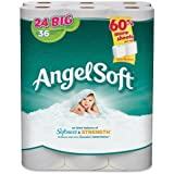 """Angel Soft PS 24 Roll Bathroom Tissue - 2 Ply - 195 Sheets/Roll - 24 / Pack - 4"""" x 4"""" - White"""