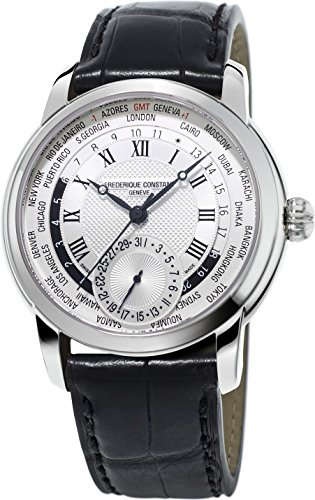 Frederique Constant Geneve Worldtimer Manufacture FC-718MC4H6 Reloj Automático para hombres Calibre de Manufactura