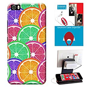 KanvasCases Printed Back Cover For Xiaomi Mi5 + Earphone Cable Organizer + Mobile Charging Holder/Stand