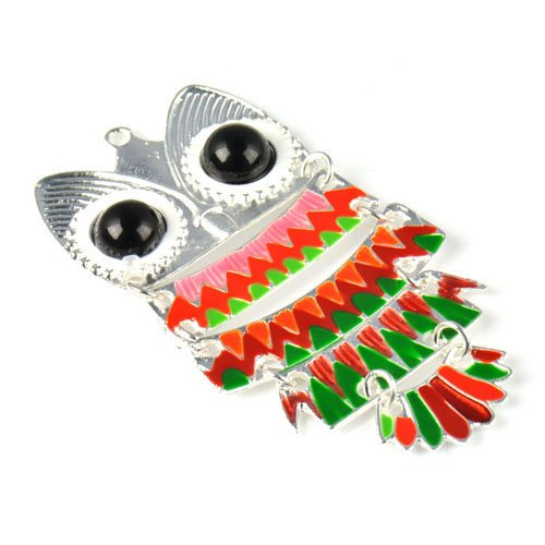5 Colors Available,5pcs/lot,funky Enamel Owl Pendant Charm for Scarves and Necklaces,pt-711 (A)