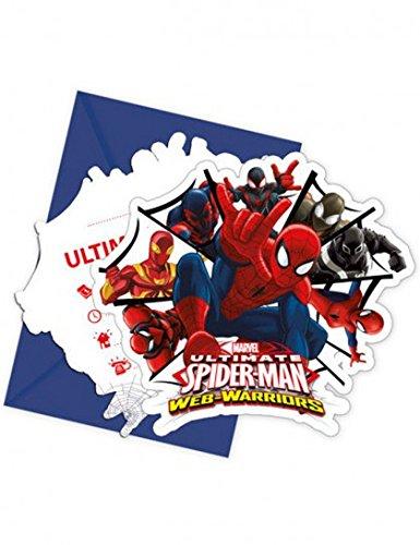 invitations-avec-enveloppes-spiderman-lot-de-6