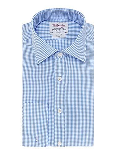 tmlewin-camicia-casual-a-quadri-classico-maniche-lunghe-uomo-blu