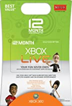 Xbox 360 12 Month Live Gold Card