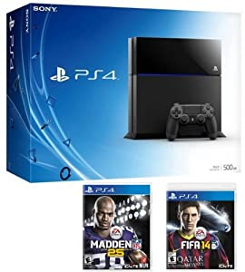 Playstation 4 Bundle with a PS4 Console, Madden NFL 25 & FIFA 14