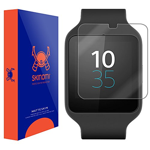 Skinomi® MatteSkin (6-PACK) - Sony Smartwatch 3 Matte Screen Protector Anti-Glare / Anti-Fingerprint / Anti-Bubble - Lifetime Replacement Warranty
