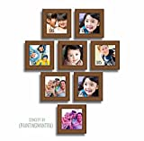 Painting Mantra Wall Brown Photo Frame set of 8 individual frames (5x5 photo size)