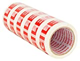 Packatape  Fragile Packaging Tape for Parcels and Boxes. This 6 roll pack of Heavy Duty Fragile Packing Tape Provides a Strong, Secure and Sticky Seal for your Boxes, 6 Rolls 48MM x 66M