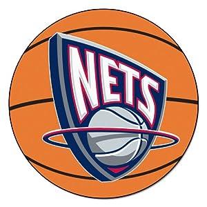 FANMATS NBA Brooklyn Nets Nylon Face Basketball Rug by Fanmats